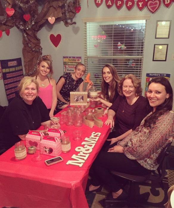 I had my girls over on Saturday, Feb. 13th for a wedding craft party. It was so much fun!